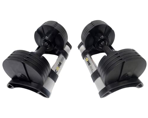 Core Fitness Adjustable Dumbbell Weight Set...