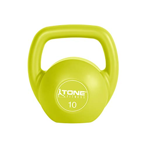 Tone Fitness SDKC2 Cement Filled Kettlebell,...