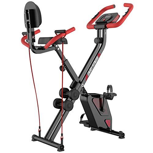 pooboo Folding Exercise Bike Upright...