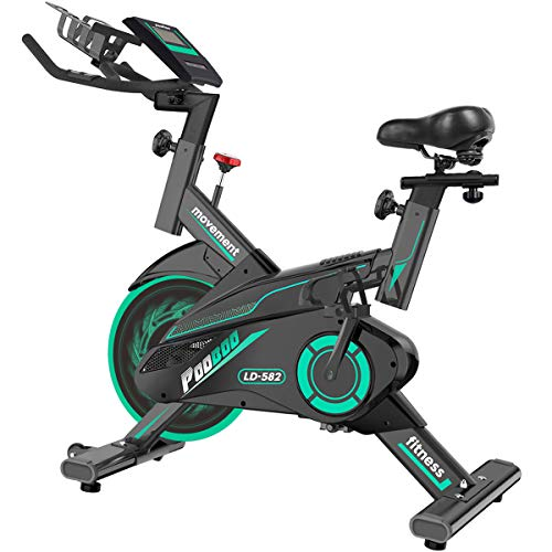 L NOW Exercise Bike Indoor Cycling Bike Belt...