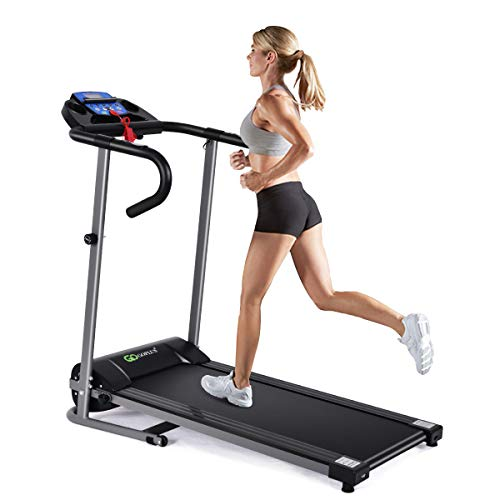 Goplus 1100W Electric Folding Treadmill, with...