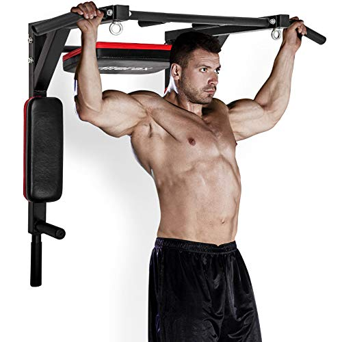 Merax Wall Mounted Pull-Up Bar - Multi-Grip...