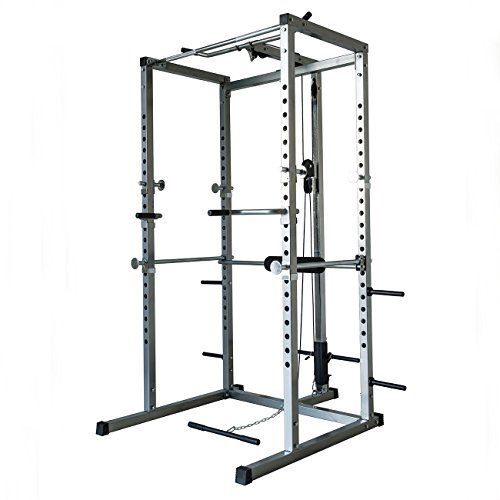 AKONZA Athletics Fitness Power Rack with LAT...