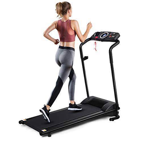 GYMAX Folding Treadmill, Electric Motorized...