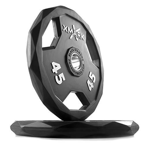 XMark Black Diamond 35 lb Pair Olympic Weight...