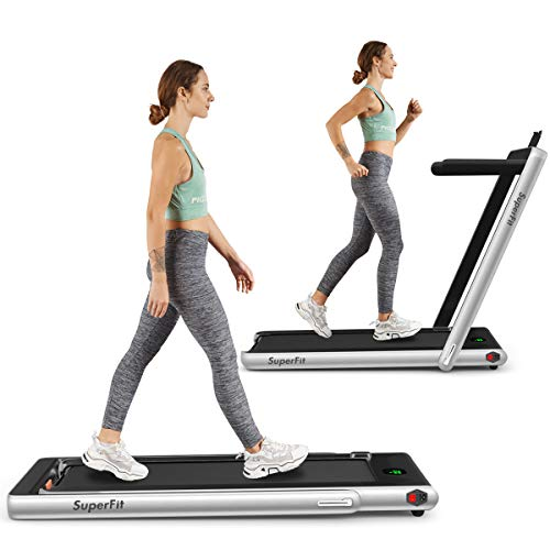 Goplus 2 in 1 Folding Treadmill, 2.25HP Under...