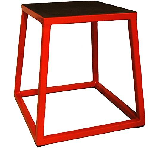 JFIT Plyometric Jump Box - 12', Red/Black