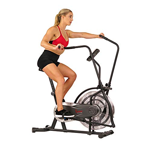 Sunny Health & Fitness Zephyr Air Bike, Fan...