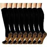 8 Pack Copper Knee High Compression Socks For...