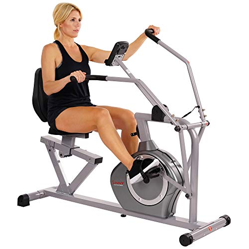 Sunny Health & Fitness Magnetic Recumbent...