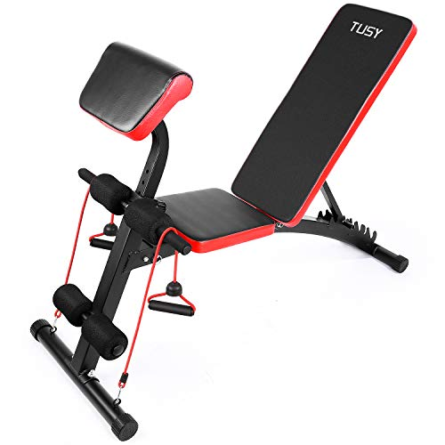 TUSY Adjustable Weight Bench for Full Body...