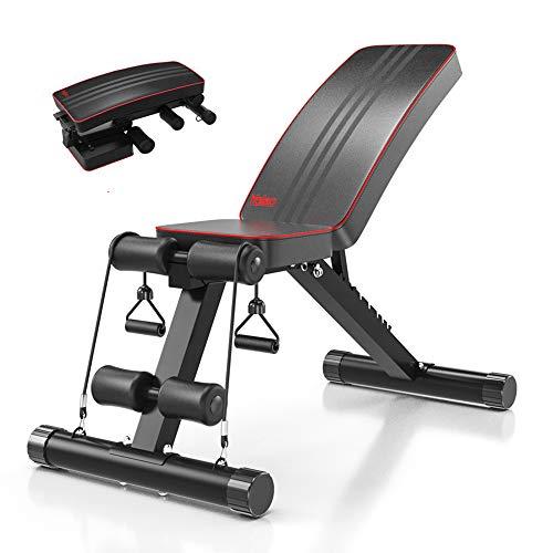 Yoleo Adjustable Weight Bench - Utility...