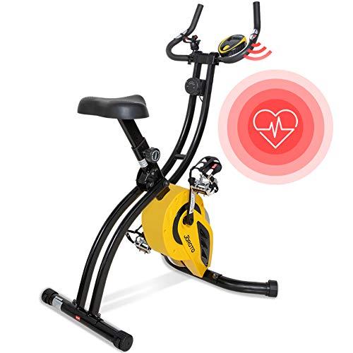 Folding Magnetic Upright Exercise Bike with...