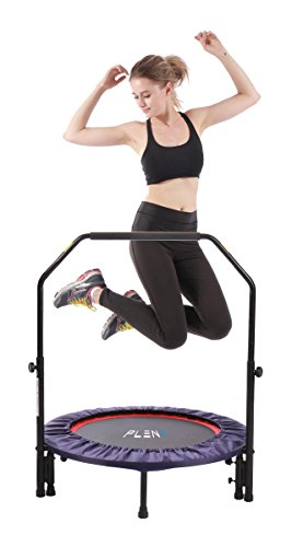 PLENY 38-Inch 2-in-1 Mini Fitness Trampoline...