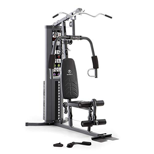 Marcy 150lb. Stack Home Gym with Pulley, Arm,...