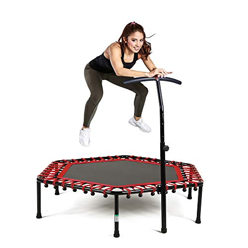 Safly Zone Mini Trampoline for Kids Adults...