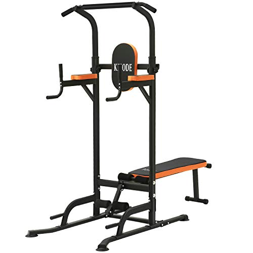 Kicode Power Tower with Bench Pull Up Bar Dip...