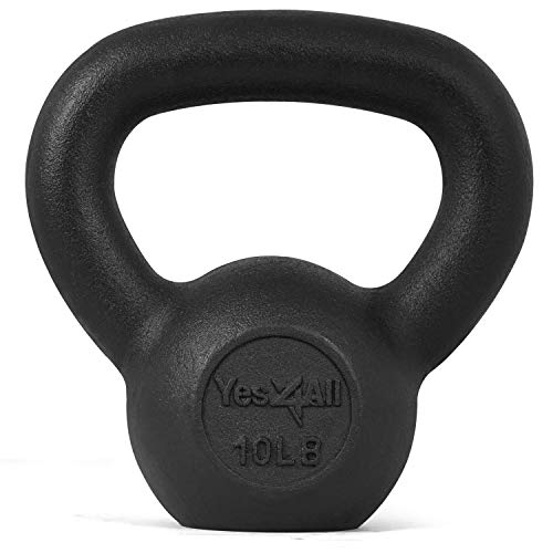 Yes4All Solid Cast Iron Kettlebell Weights...