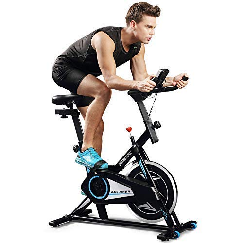 ANCHEER Indoor Cycling Bike, Smooth Quiet...