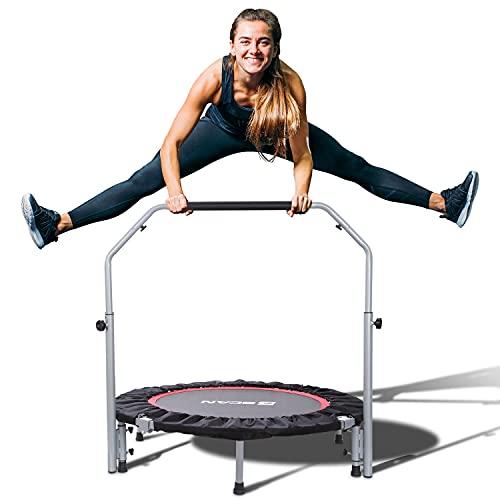 BCAN 40' Foldable Mini Trampoline, Fitness...