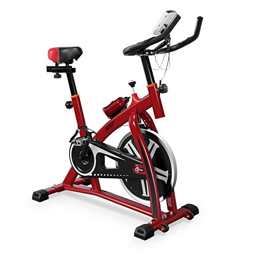 Akonza Indoor Stationary Exercise Bike (Red)...