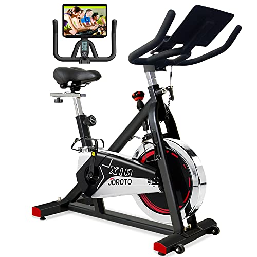 JOROTO Belt Drive Exercise Bike - Indoor...