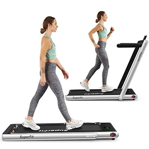 Goplus 2 in 1 Folding Treadmill, 2.25HP Under...