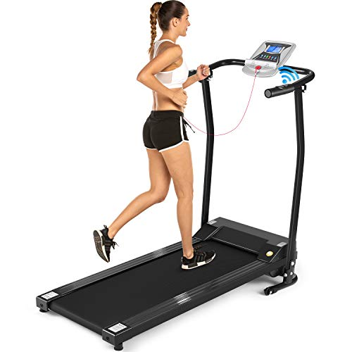 ANCHEER Folding Treadmill, Electric Running...