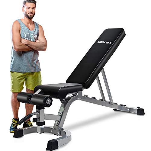 Merax Deluxe Foldable Utility Weight Bench...