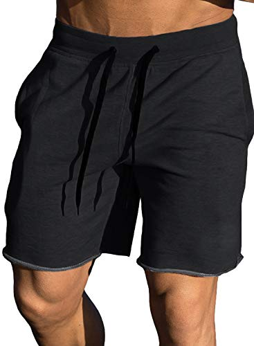 Ouber Men's Gym Workout Shorts Bodybuilding...