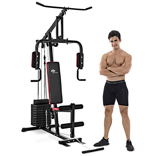 Goplus Multifunction Home Gym System Weight...