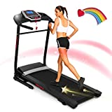 ANCHEER Folding Treadmill with Smartphone...