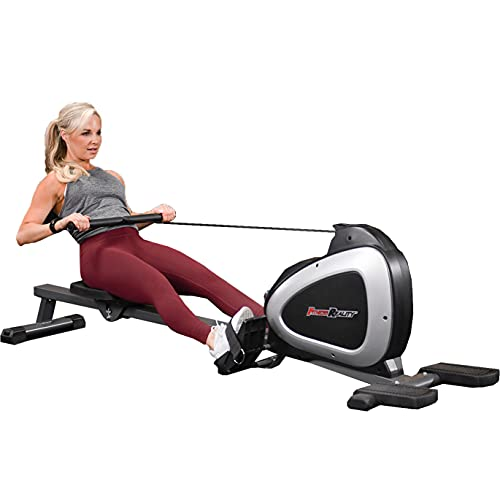Fitness Reality Magnetic Rowing Machine with...