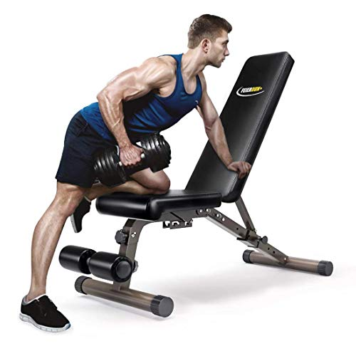 FEIERDUN Weight Bench, Adjustable Workout...