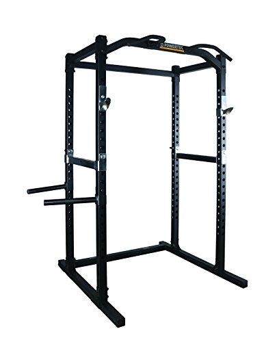 Powertec Fitness Work Bench Power Rack, Black