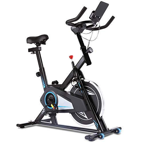 ANCHEER Exercise Bike, Smooth Quiet Belt...
