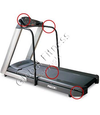 Precor 956 w/HR Treadmill - Remanufactured