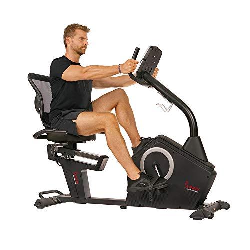 Sunny Health & Fitness Programmable Recumbent...