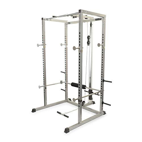 Valor Fitness BD-7 Power Rack with LAT Pull...