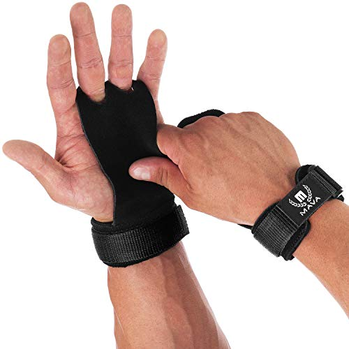 Mava Sports Leather Hand Grips with Wrist...