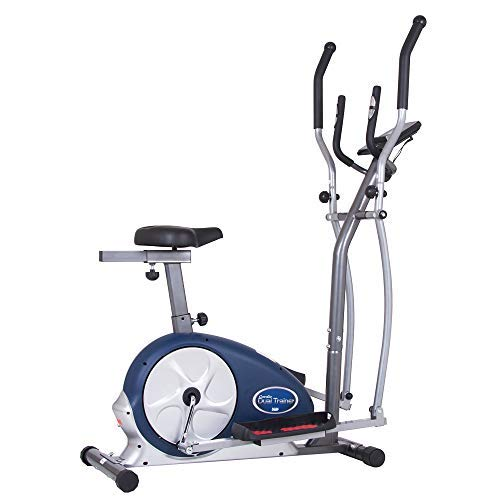 Body Champ 2-in-1 Upright Exercise Bike and...