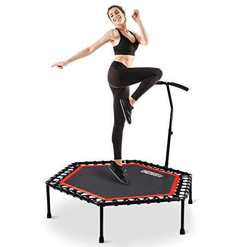 ONETWOFIT 48' Silent Mini Trampoline with...