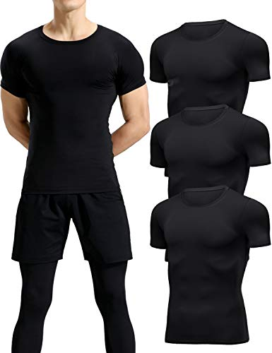 Lavento Men's Compression Shirts Cool Dry...