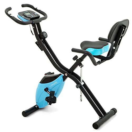 Folding Exercise Bike with 10-Level...
