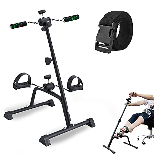 SYNTEAM Compact Mini Exercise Bike Arms and...