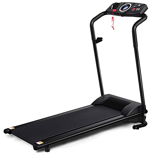 GYMAX Folding Treadmill, Electric Motorized...
