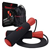 Adjustable Jump Rope with Carrying Pouch for...
