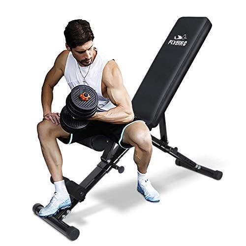 FLYBIRD Weight Bench, Adjustable Strength...