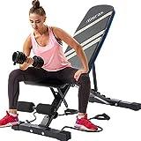 Merax Adjustable Workout Bench Folding...