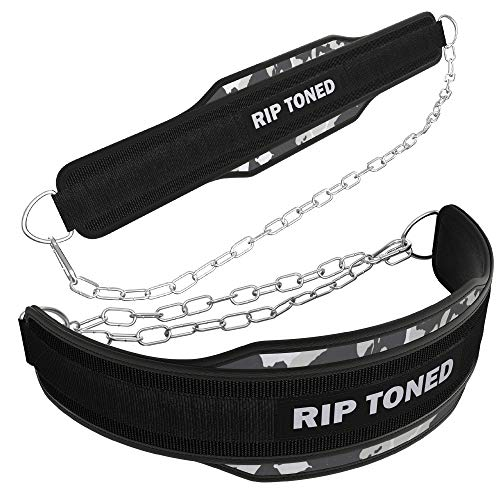 Rip Toned Dip Belt with Chain | Built for...